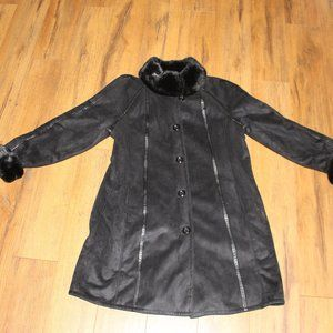 Women's Gallery Faux Suede/Faux Fur Jacket Sz. L